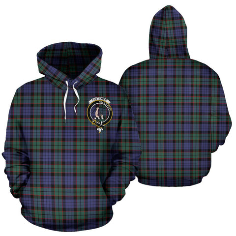 ScottishShop Fletcher Tartan Clan Badge Hoodie
