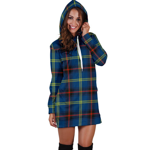 ScottishShop Hoodie Dress - Grewar Tartan Hooded Dress