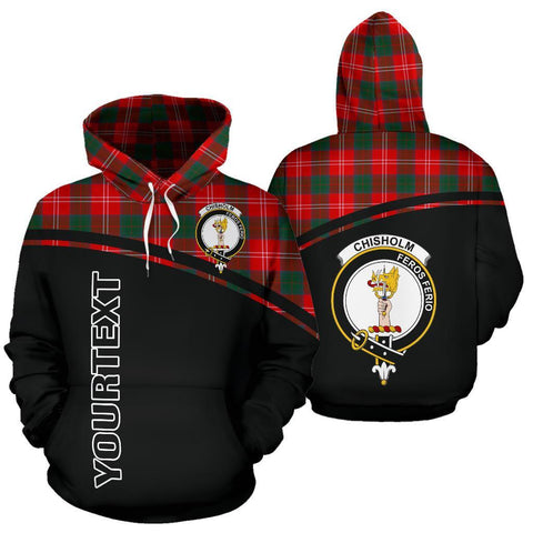 Custom Hoodie - Clan Tartan Chisholm Hoodie Make Your Own - Curve Style - Unisex Sizing