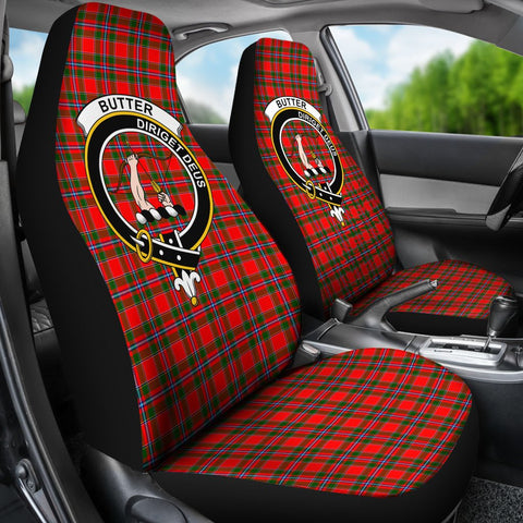 ScottishShop Seat Cover - Tartan Crest Butter Car Seat Cover Clan Badge - Universal Fit