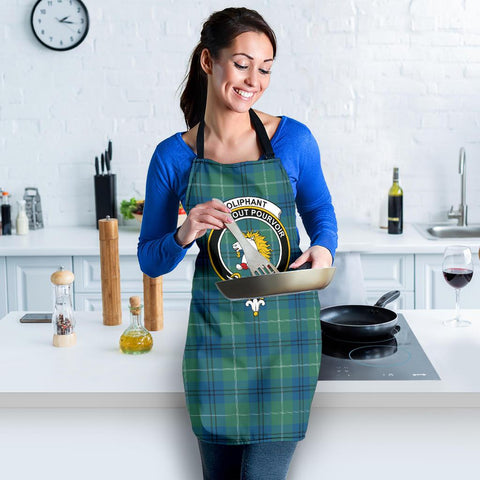 Image of Tartan Apron - Oliphant Ancient Apron With Clan Crest HJ4