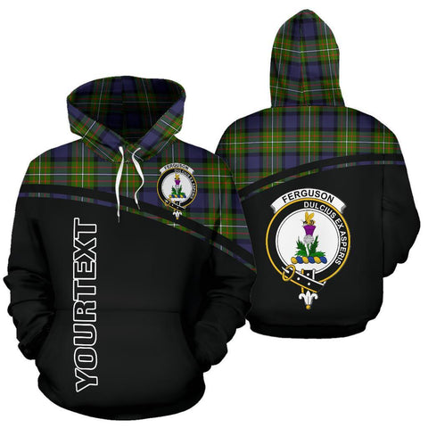 Custom Hoodie - Clan Tartan Ferguson Hoodie Make Your Own - Curve Style - Unisex Sizing