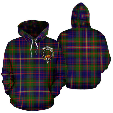 ScottishShop Cameron Tartan Clan Badge Hoodie