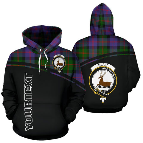 Custom Hoodie - Clan Tartan Blair Hoodie Make Your Own - Curve Style - Unisex Sizing
