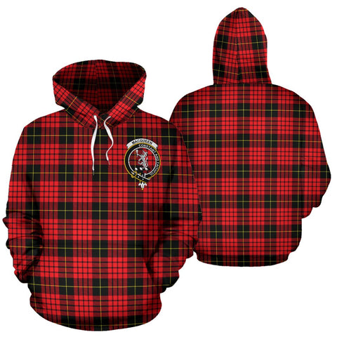 Image of ScottishShop Macqueen Tartan Clan Badge Hoodie