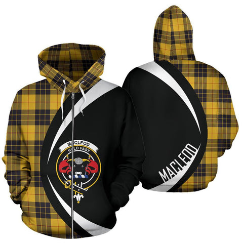 Image of Tartan Zip Up Hoodie - Clan MacLeod Of Lewis Ancient Zip Up Hoodie - Circle Style Unisex
