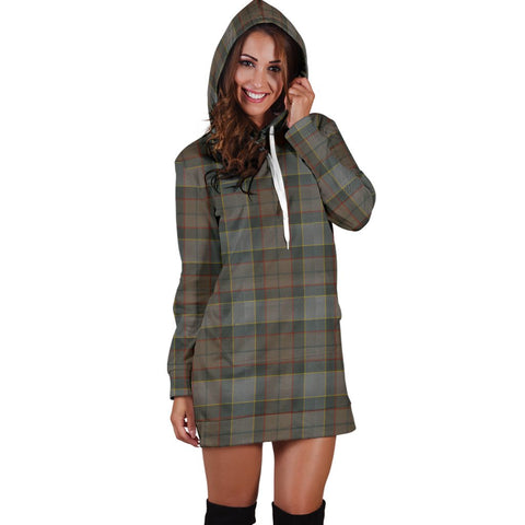Image of Hoodie Dress - Outlander Fraser Tartan Hooded Dress