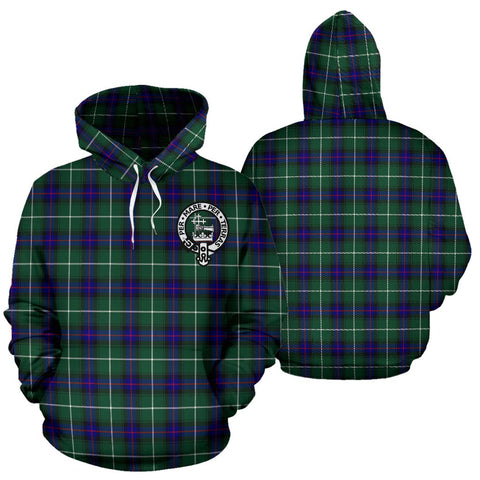 ScottishShop Macdonald Of The Isles Tartan Clan Badge Hoodie