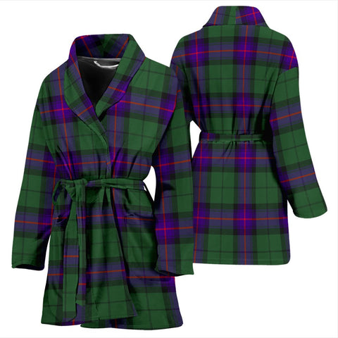 Armstrong Modern Bathrobe | Women Tartan Plaid Bathrobe | Universal Fit