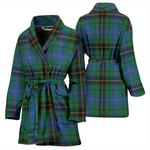 Image of ScottishShop Davidson Ancient Bathrobe | Women Tartan Plaid Bathrobe