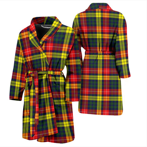 Buchanan Modern Bathrobe | Men Tartan Plaid Bathrobe | Universal Fit