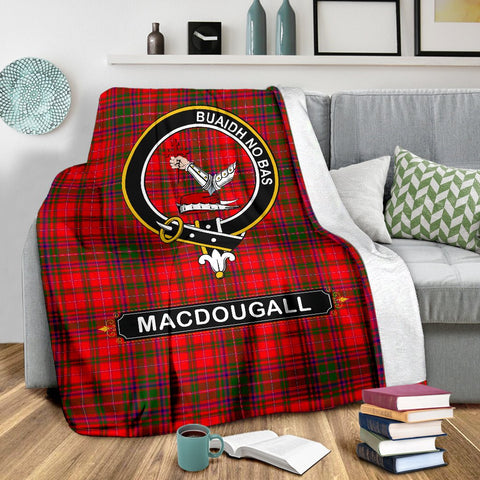 MacDougall Crest Tartan Blanket | Tartan Home Decor | ScottishShop