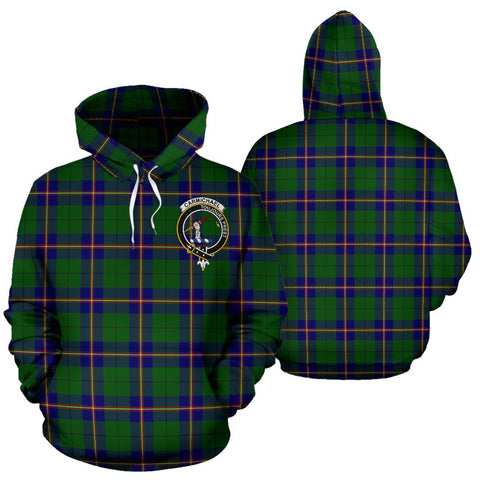 ScottishShop Carmichael Tartan Clan Badge Hoodie