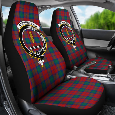 ScottishShop Seat Cover - Tartan Crest Auchinleck Car Seat Cover Clan Badge - Universal Fit