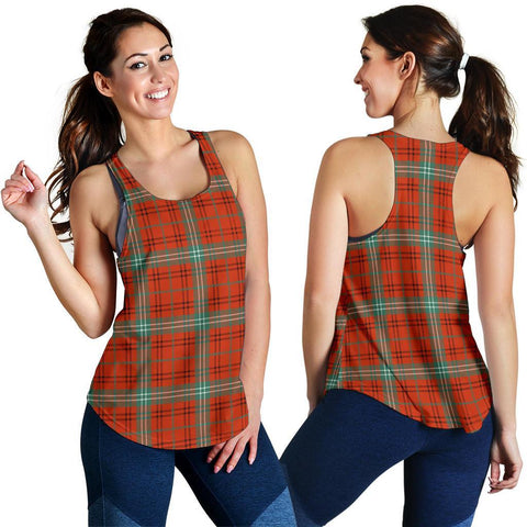 Morrison Red Ancient Tartan Women Racerback Tank