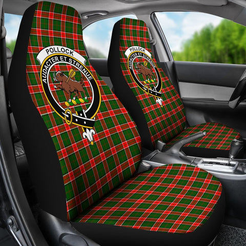 Image of ScottishShop Seat Cover - Tartan Crest Pollock Car Seat Cover - Universal Fit