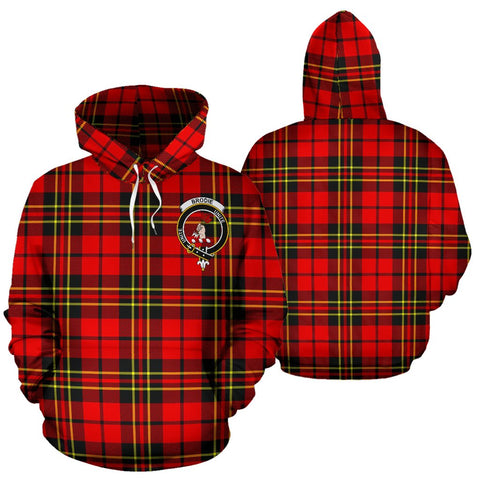 ScottishShop Brodie Tartan Clan Badge Hoodie