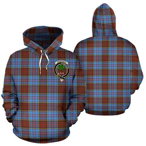 Image of Anderson Tartan Clan Badge Hoodie HJ4