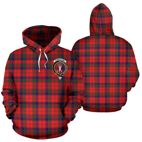 Image of ScottishShop Robertson Tartan Clan Badge Hoodie