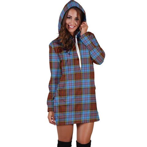 Image of Hoodie Dress - Anderson Modern Tartan Hooded Dress