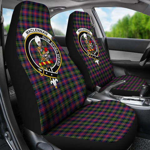 Image of Seat Cover - Tartan Crest Maclennan Car Seat Cover - Universal Fit