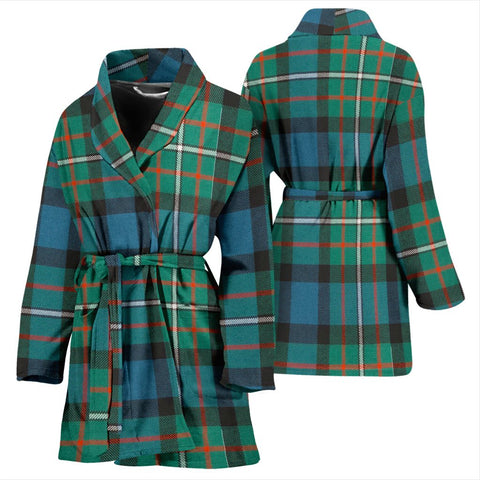 Ferguson Ancient Bathrobe | Women Tartan Plaid Bathrobe | Universal Fit