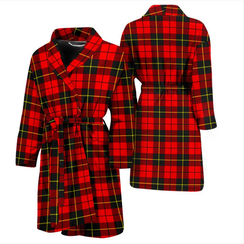 Wallace Hunting - Red Bathrobe | Men Tartan Plaid Bathrobe | Universal Fit