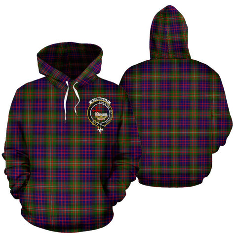 Image of ScottishShop Macdonald Tartan Clan Badge Hoodie