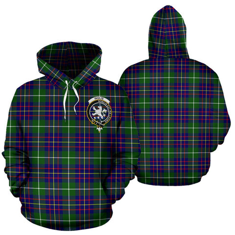 ScottishShop Inglis Tartan Clan Badge Hoodie