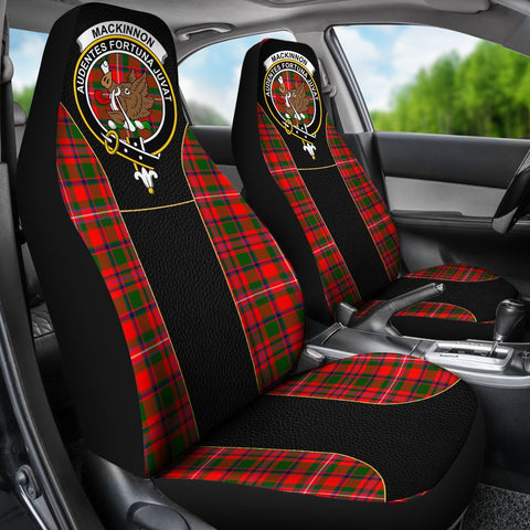 ScottishShop Seat Cover - Tartan Crest Mackinnon Tartan Car Seat Cover Clan Badge - Special Version - Universal Fit