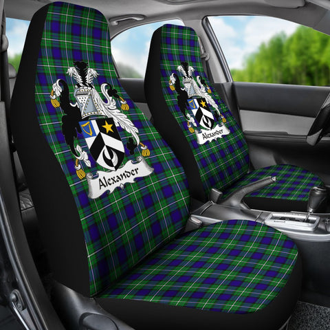 ScottishShop Seat Cover - Tartan Crest Alexander Car Seat Cover Clan Badge - Universal Fit