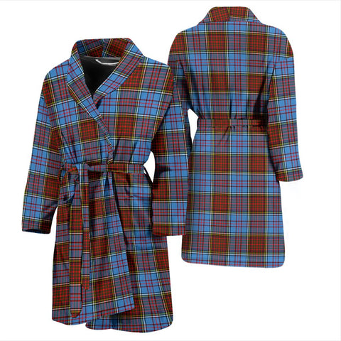 Image of Anderson Modern Bathrobe | Men Tartan Plaid Bathrobe | Universal Fit