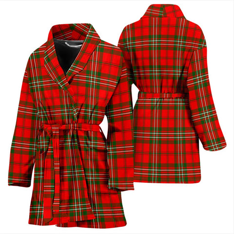 Scott Modern Bathrobe | Women Tartan Plaid Bathrobe | Universal Fit