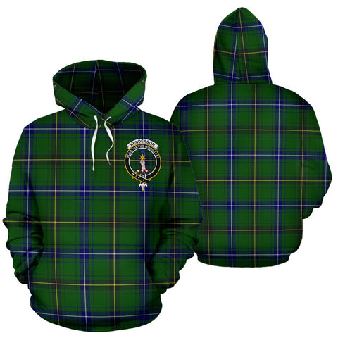 ScottishShop Henderson Tartan Clan Badge Hoodie