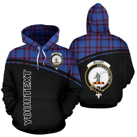 Custom Hoodie - Clan Tartan Elliot Hoodie Make Your Own - Curve Style - Unisex Sizing