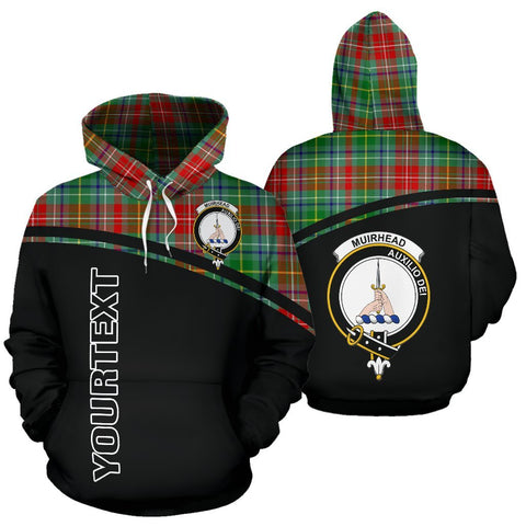 Custom Hoodie - Clan Tartan Muirhead Hoodie Make Your Own - Curve Style - Unisex Sizing