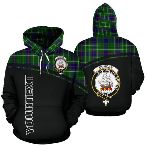 Custom Hoodie - Clan Tartan Duncan Hoodie Make Your Own - Curve Style - Unisex Sizing