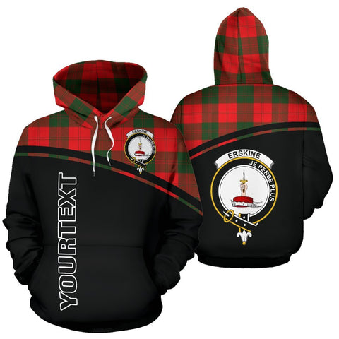 Custom Hoodie - Clan Tartan Erskine Hoodie Make Your Own - Curve Style - Unisex Sizing