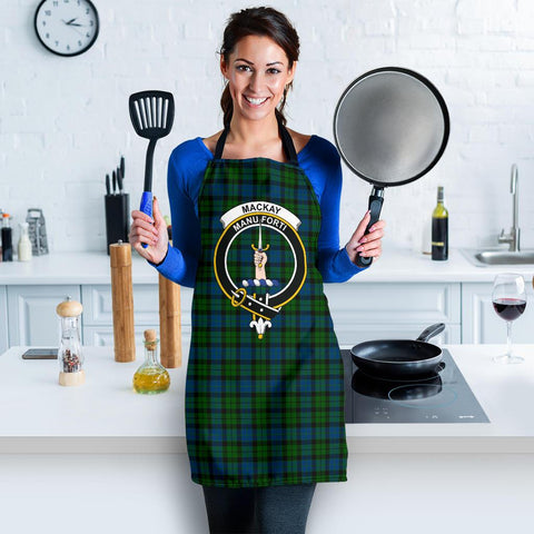 Image of Tartan Apron - MacKay Modern Apron With Clan Crest HJ4
