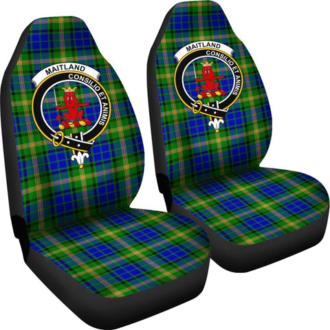 Image of Seat Cover - Tartan Crest Maitland Car Seat Cover - Universal Fit