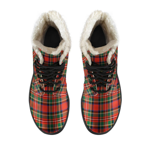 Image of Stewart Royal Modern Tartan Boots For Men
