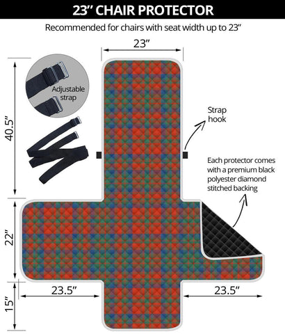 Clan Matheson Ancient Plaid Sofa Protector - 23 Inches