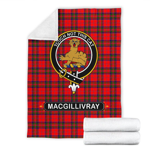 MacGillivray Crest Tartan Blanket | Tartan Home Decor | ScottishShop