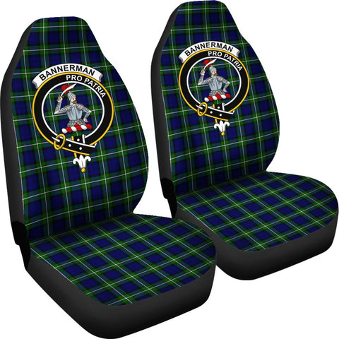 ScottishShop Seat Cover - Tartan Crest Bannerman Car Seat Cover Clan Badge - Universal Fit
