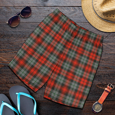 Tartan Mens Shorts - Clan MacLachlan Weathered Plaid Shorts