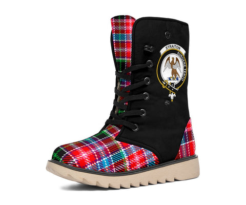 Image of Tartan Women's Snow Boots - Clan Straiton Boots Side Crest - BN