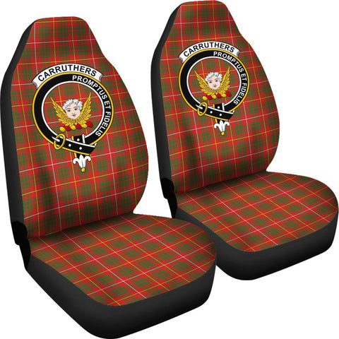 ScottishShop Seat Cover - Tartan Crest Carruthers Car Seat Cover Clan Badge - Universal Fit
