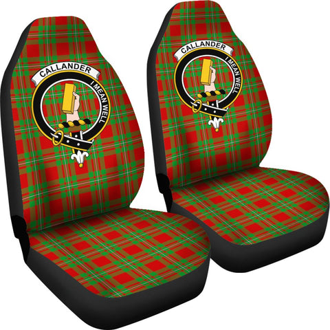 ScottishShop Seat Cover - Tartan Crest Callander Car Seat Cover Clan Badge - Universal Fit