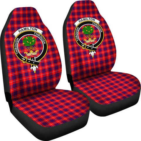 Image of Seat Cover - Tartan Crest Hamilton Modern Car Seat Cover - Universal Fit