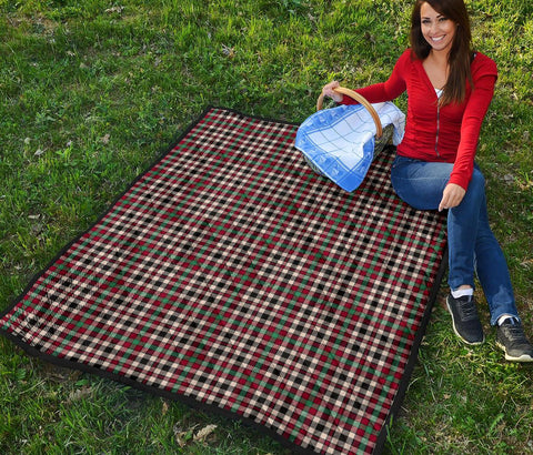 Premium Quilt - Borthwick Dress Ancient Tartan Quilt TH8